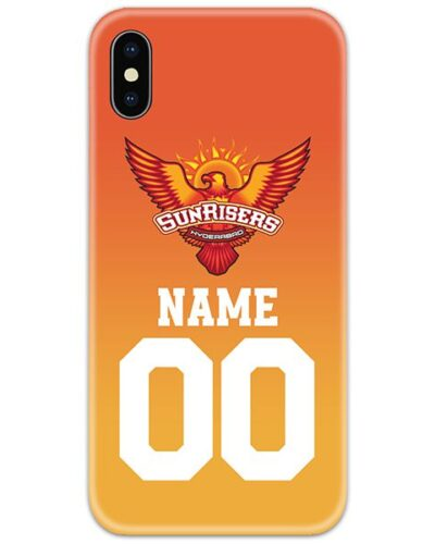 Sunrisers Hyderabad IPL Customise Name and Number Case Cover