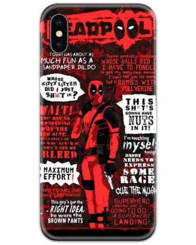 Deadpool all Dialogues Slim Case Back Cover