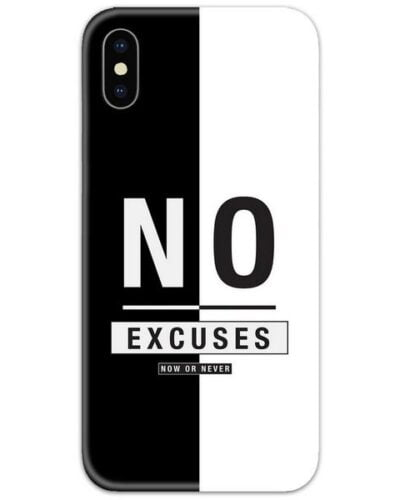 No Excuses Stripe Slim Case Back Cover