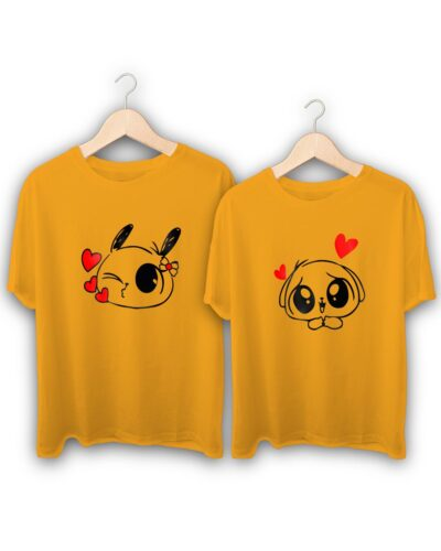 Bunny Love Couple T-Shirts