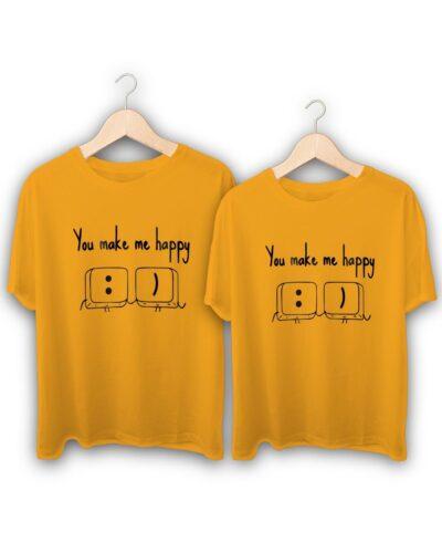 You Make Me Happy Couple T-Shirts