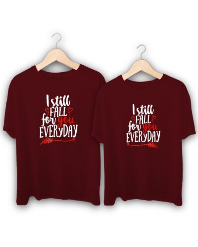 Still Fall For You Couple T-Shirts