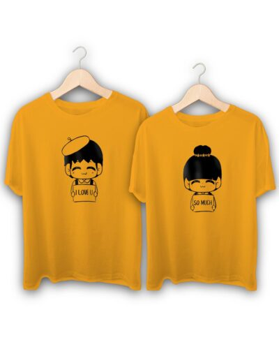 Love Tag Couple T-Shirts
