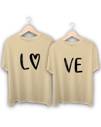 Love Heart Couple T-Shirts