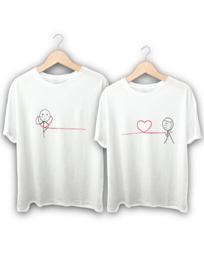 Love Connection Heart Couple T-Shirts