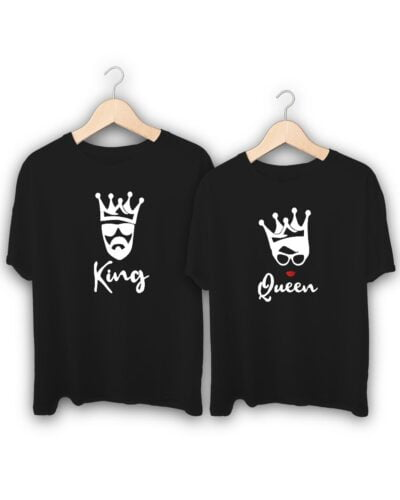 King Queen Crown Couple T-Shirts
