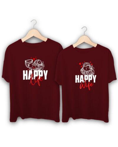 Happy Life Couple T-Shirts