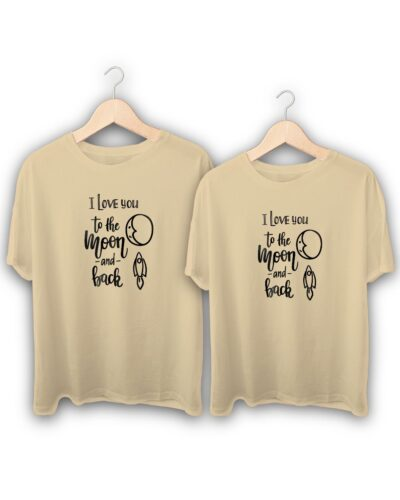 I Love You To The Moon Couple T-Shirts
