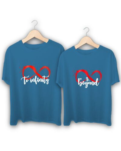 Infinity And Beyond Couple T-Shirts