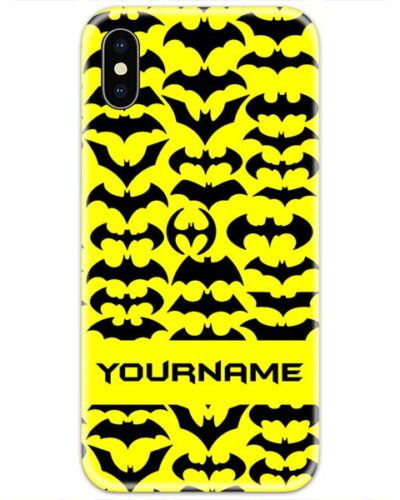 Batman all Logos Slim Case Cover with Your Name