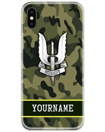 Balidan Logo Army Slim Case Cover with Your Name