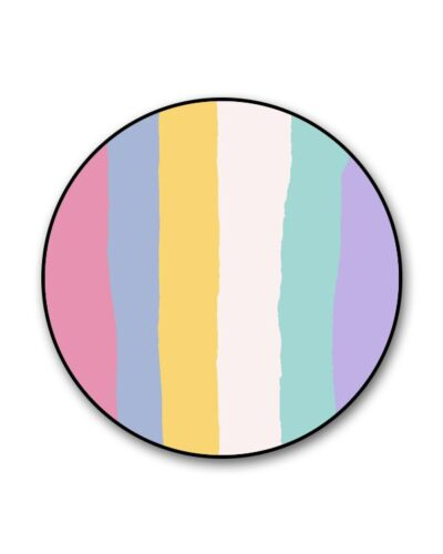 Rainbow Multicolor Light Lines Popgrip