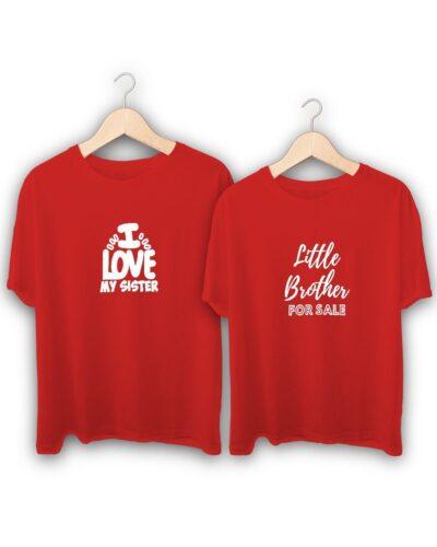 Little Brother for Sale I Love My Sister Raksha Bandhan Design T-Shirts