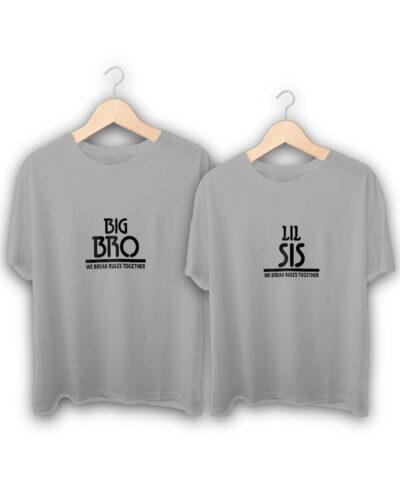 Lil Sis Big Bro Raksha Bandhan Design T-Shirts
