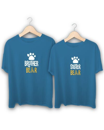 Brother Bear Sister Bear Raksha Bandhan Design T-Shirts