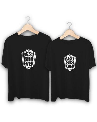 Best Bro Sis Ever Raksha Bandhan Design T-Shirts