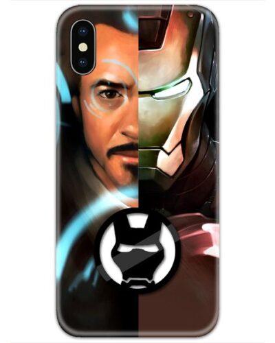 Half Tony Stark Half Ironman Logo 4D Case