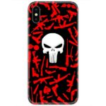 Punisher Logo Red Guns 4D Case