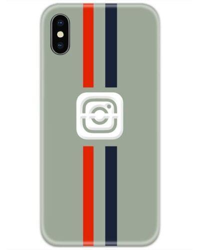Instagram Logo Red Blue Lines 4D Case