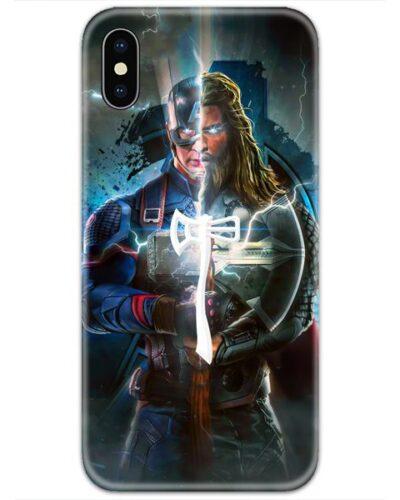 Half Captain America Half Thor Stormbreaker 4D Case