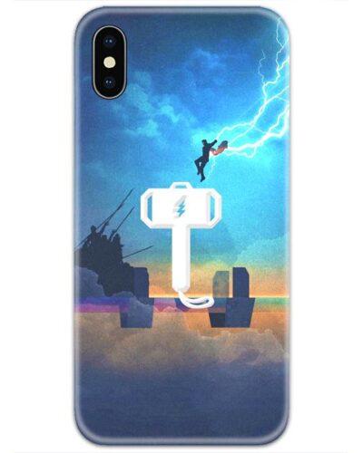 Thor Flying on Mjolnir Hammer 4D Case