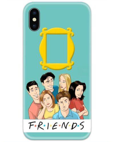Friends Cartoon Faces 4D Case