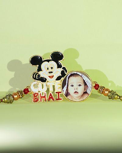 Custom Mickey Face Cute Bhai Rakhi