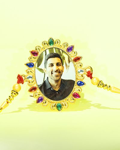 Custom Colorful Oval Shape Rakhi