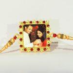 Custom Red Square Fancy Rakhi