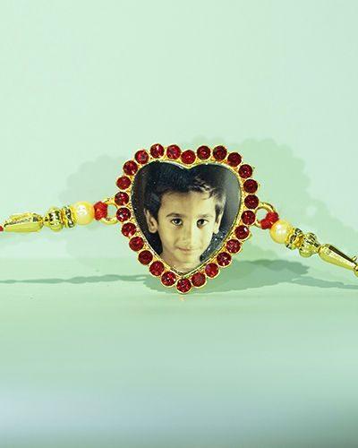 Custom Red Heart Rakhi
