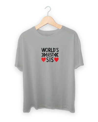 Worlds Best Sis Raksha Bandhan Design T-shirt