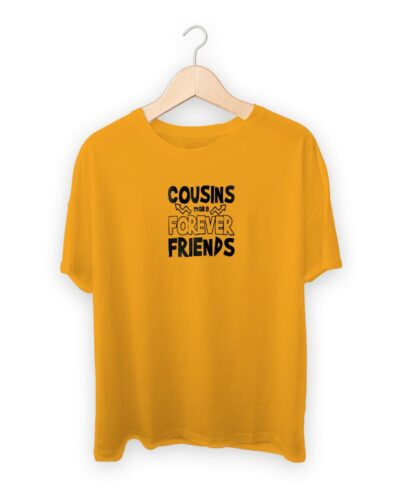 Cousins Make Forever Friends Raksha Bandhan Design T-shirt
