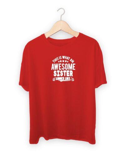Awesome Sister Raksha Bandhan Design T-shirt