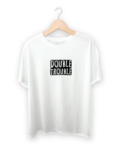 Double Trouble Raksha Bandhan Design T-shirt