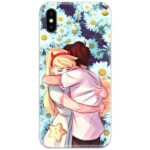 Couple Hug Slim Case Back Cover