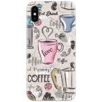 Love Hot Coffee Slim Case Back Cover