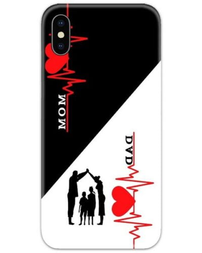 Mom Dad Family Heartbeat Slim Case Back Cover