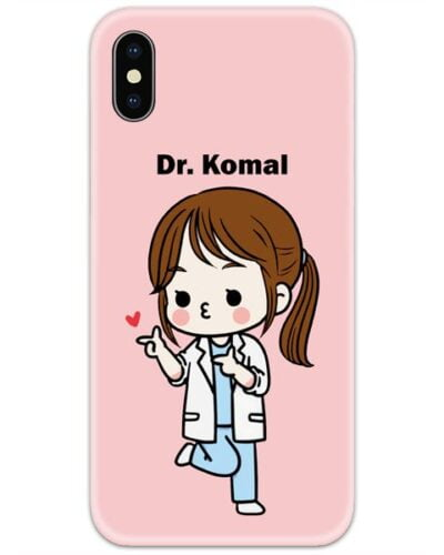 Doctor Girl Slim Case Cover with Your Name