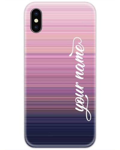 Lines Gradient Case Cover with Your Name