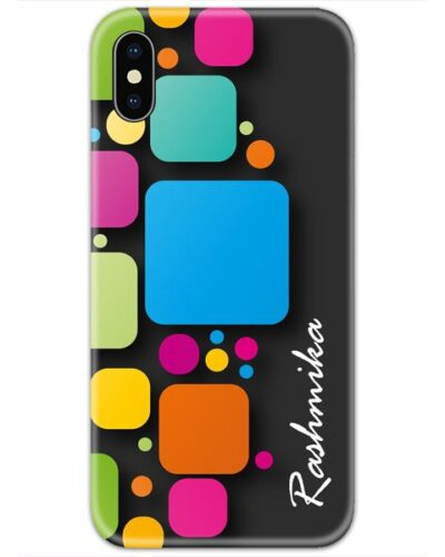 Colorful Blocks Case Cover with Your Name