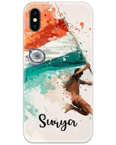 Indian Flag Slim Case Cover with Your Name
