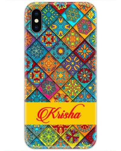 Mandala Colorful Design Slim Case Cover with Your Name