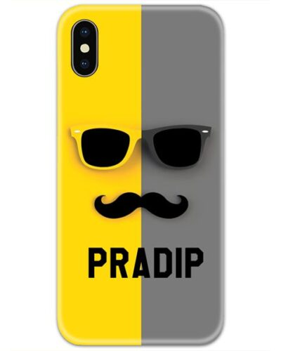 Mustache Face Slim Case Cover with Your Name