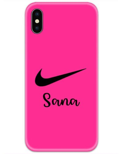 Nike Pink Slim Case Cover with Your Name