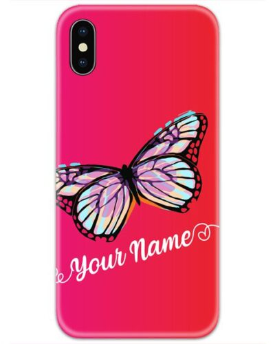 Butterfly Pink Slim Case Cover with Your Name