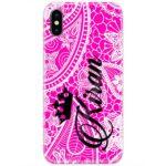 Pink Henna Custom 4D Name Case