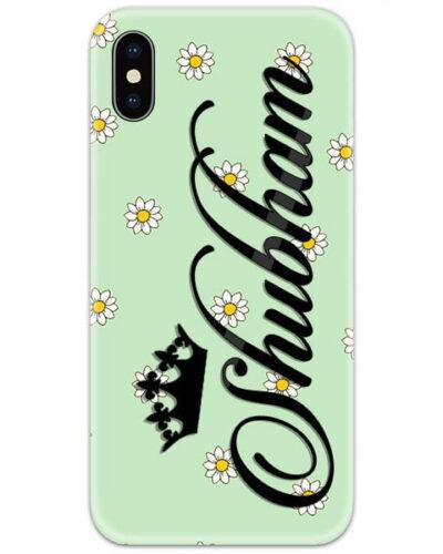 Light Green Flower Custom 4D Name Case