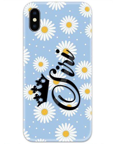 Sky Blue Flower Custom 4D Name Case