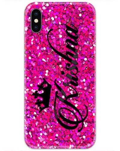 Pink Glitter Custom 4D Name Case