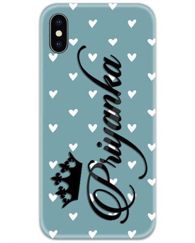Sky Blue Heart Custom 4D Name Case